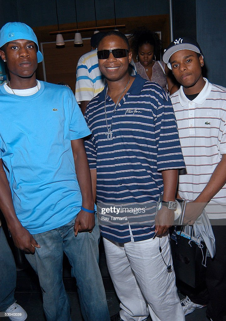 Recording artists Dayqun and Soloman and their father, Doug E  Fresh