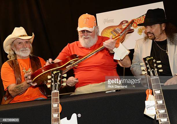 Recording Artists Dickey Betts Charlie Daniels and Gary Rossington at the press confrence for the Gibson Custom Southern Rock tribute 1959 Les Paul...