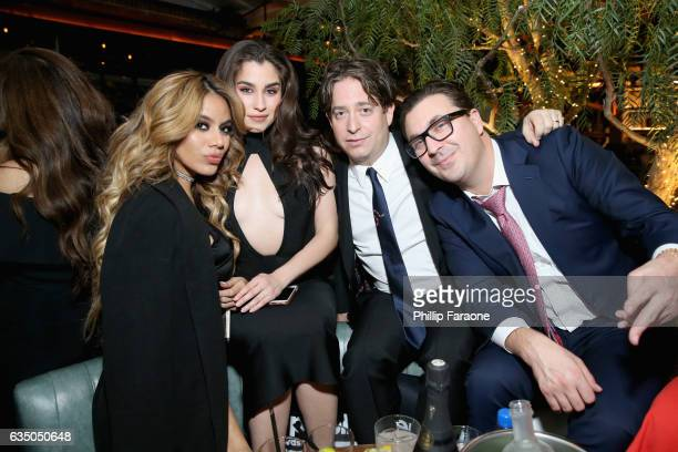 Recording artists Dinah Jane and Lauren Jauregui of Fifth Harmony President of The Republic Group Charlie Walk and guest at a celebration of music...