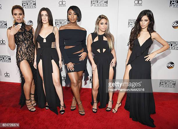 recording artists Dinah Jane Hansen Lauren Jauregui Normani Hamilton Ally Brooke and Camila Cabello of musical group Fifth Harmony attends the 2016...