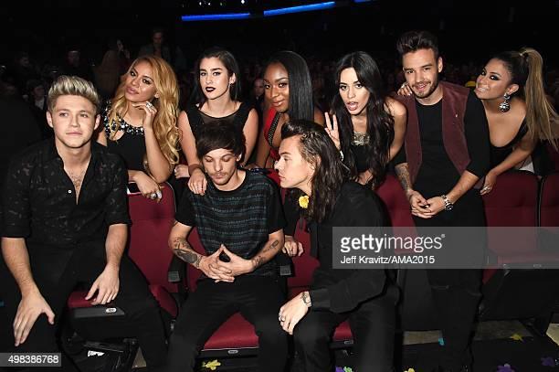 Recording artists DinahJane Hansen Lauren Jauregui Normani Hamilton and Camila Cabello of Fifth Harmony recording artist Liam Payne of One Direction...