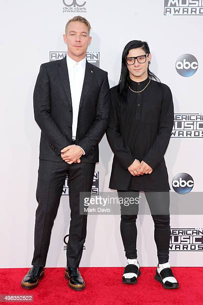 Recording artists Diplo and Skrillex attend the 2015 American Music Awards at Microsoft Theater on November 22 2015 in Los Angeles California