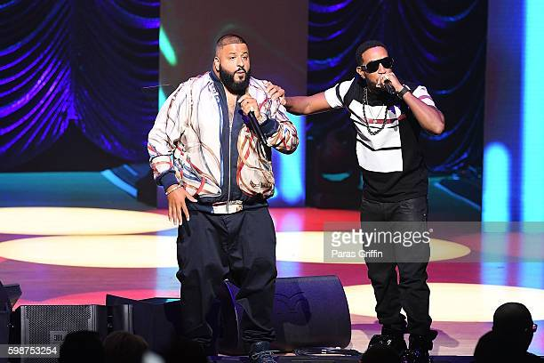 Recording artists DJ Khaled and Ludacris perform onstage at 2016 BMI RB/HipHop Awards at Woodruff Arts Center on September 1 2016 in Atlanta Georgia