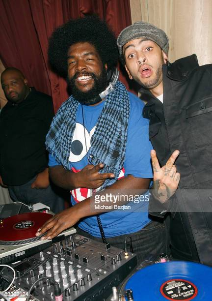Recording artists DJ Questlove and Travis McCoy play at Love Sessions on October 17 2008 in Los Angeles California