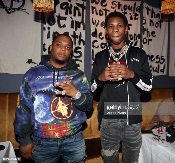 Recording artists Don Q and A Boogie attend the Don Q Don Season 2 Listening Party at Jue Lan Club on August 27 2018 in New York City