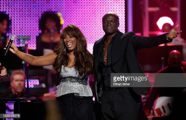 Recording artists Donna Summer and Seal perform during the David Foster and Friends concert at the Mandalay Bay Events Center October 15 2010 in Las...
