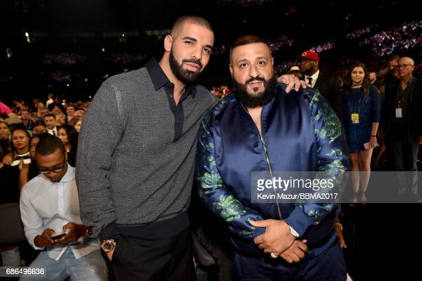 Recording artists Drake and DJ Khaled attend the 2017 Billboard Music Awards at TMobile Arena on May 21 2017 in Las Vegas Nevada