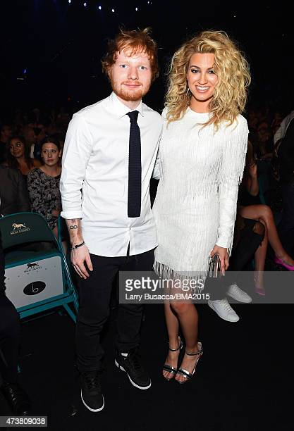 Recording artists Ed Sheeran and Tori Kelly attend the 2015 Billboard Music Awards at MGM Grand Garden Arena on May 17 2015 in Las Vegas Nevada