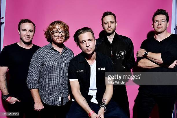 Recording artists Eddie Fisher Drew Brown Ryan Tedder Brent Kutzle and Zach Filkins of OneRepublic pose for a portrait during CBS RADIO's fourth...