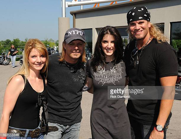 Recording Artists Elaine Roy and Lee Roy of The Roys with Recording Artist Alana Grace and Recording Artist Ira Dean attend the TJ Martel Little Big...