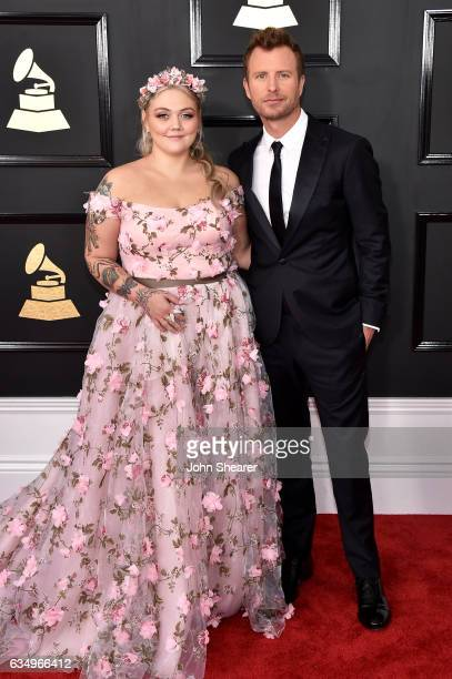 Recording artists Elle King and Dierks Bentley attend The 59th GRAMMY Awards at STAPLES Center on February 12 2017 in Los Angeles California