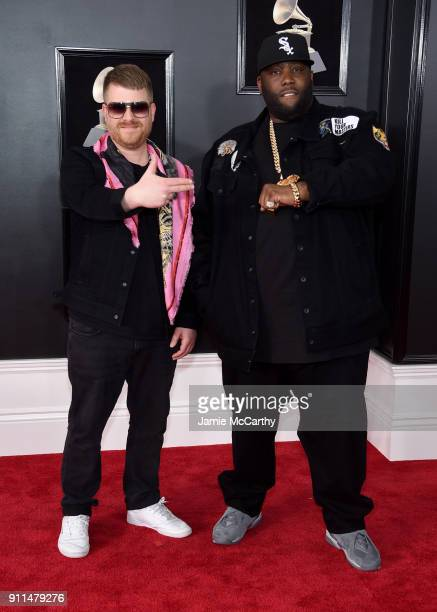 Recording artists ElP and Killer Mike of Run The Jewels attend the 60th Annual GRAMMY Awards at Madison Square Garden on January 28 2018 in New York...