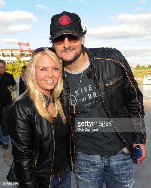 Recording Artists Eric Church and his wife Katherine Church backstage at Dierk's Bentley 4th annual Miles Music For Kids on October 11 2009 at The...