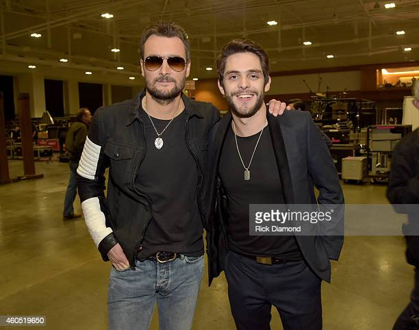 Recording artists Eric Church and Thomas Rhett attend the 2014 American Country Countdown Awards at Music City Center on December 15 2014 in...