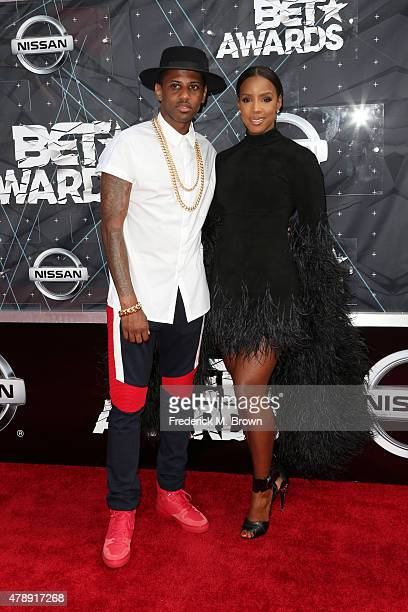 Recording artists Fabolous and Kelly Rowland attend the 2015 BET Awards at the Microsoft Theater on June 28 2015 in Los Angeles California