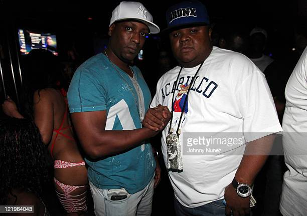 Recording artists Face and Fred The Godson attend Celebrity Tuesday at Sue's Rendezvous on August 23, 2011 in Mount Vernon, New York.