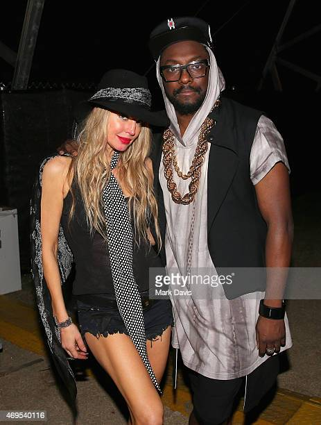 Recording artists Fergie and william of The Black Eyed Peas attend day 3 of the 2015 Coachella Valley Music Arts Festival at the Empire Polo Club on...