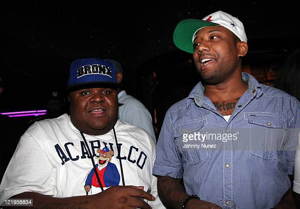 Recording artists Fred The Godson and Maino host Celebrity Tuesday at Sue's Rendezvous on August 23, 2011 in Mount Vernon, New York.