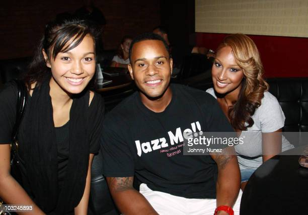 Recording artists Gaby Borromeo, Vaughn Anthony, and Olivia attend BMI's Know Them Now showcase at the Canal Room on August 4, 2010 in New York City.