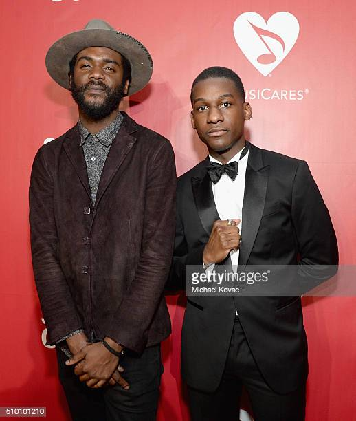 Recording artists Gary Clark Jr. And Leon Bridges attend the 2016 MusiCares Person of the Year honoring Lionel Richie at the Los Angeles Convention...