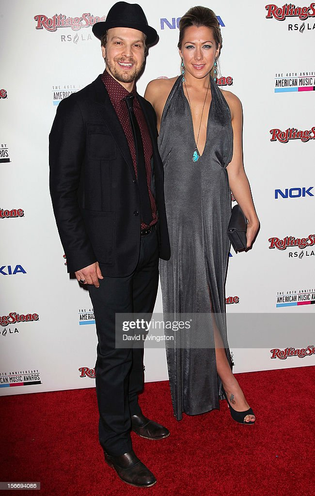 Recording artists Gavin DeGraw (L) and Colbie Caillat attend Rolling Stone Magazine's 2012 American Music Awards (AMAs) VIP After Party presented by Nokia and Rdio at the Rolling Stone Restaurant and Lounge on November 18, 2012 in Los Angeles, California.
