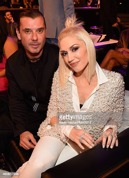Recording artists Gavin Rossdale and Gwen Stefani attend the PEOPLE Magazine Awards at The Beverly Hilton Hotel on December 18 2014 in Beverly Hills...