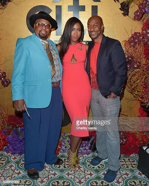 Recording artists George Clinton Sevyn Streeter and President of Programming for BET Stephen Hill attend the Citi Celebrates 2016 Billboard Power 100...