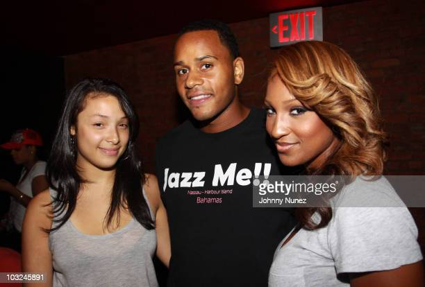 Recording artists Ginette Claudette, Vaughn Anthony, and Olivia attend BMI's Know Them Now showcase at the Canal Room on August 4, 2010 in New York...