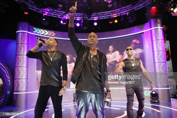 Recording artists Ginuwine Tyrese and Tank visit 106 Park on August 19 2013 in New York City