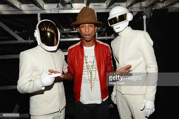 Recording artists GuyManuel de HomemChristo Pharrell Williams and Thomas Bangalter winners of Record of the Year and Album of the Year for Random...