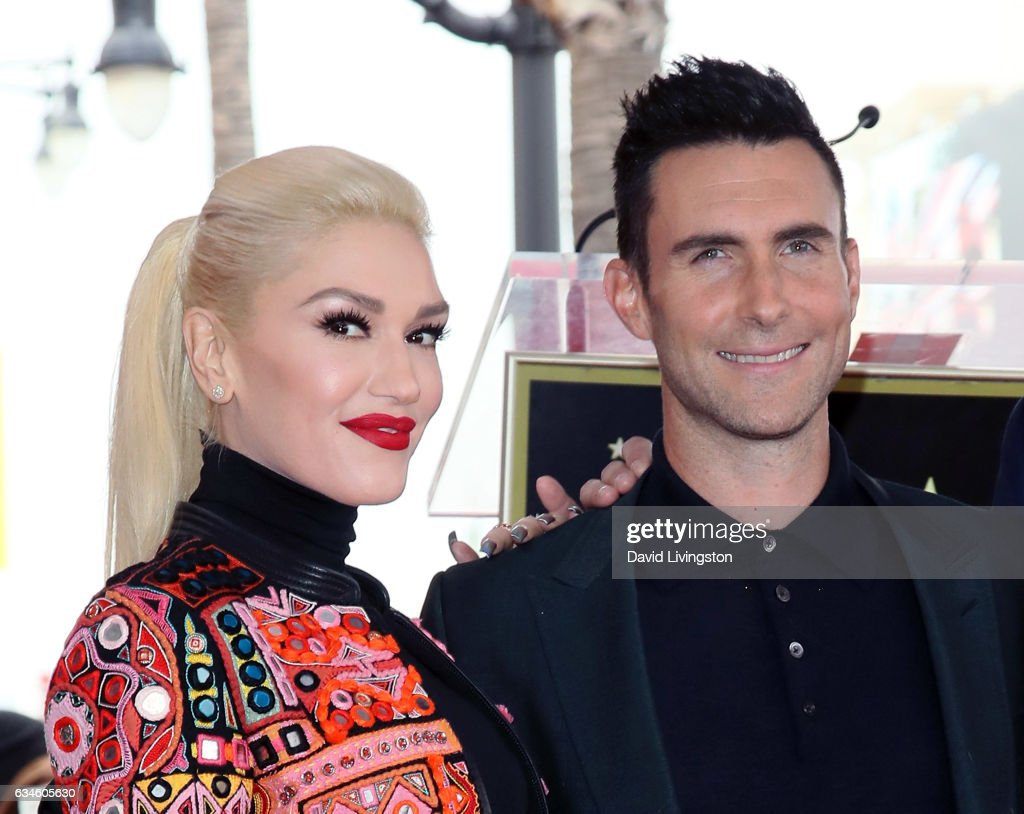 Adam Levine Honored With Star On The Hollywood Walk Of Fame : News Photo