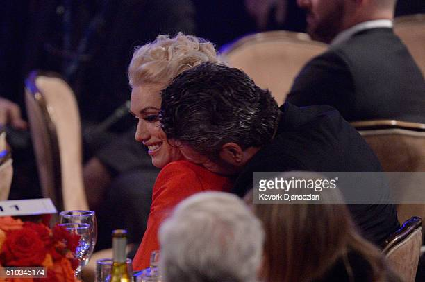 Recording artists Gwen Stefani and Blake Shelton attend the 2016 PreGRAMMY Gala and Salute to Industry Icons honoring Irving Azoff at The Beverly...