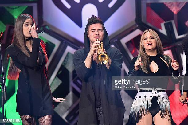 Recording artists Hailee Steinfeld and Ally Brooke perform onstage during Z100's Jingle Ball 2016 at Madison Square Garden on December 9 2016 in New...