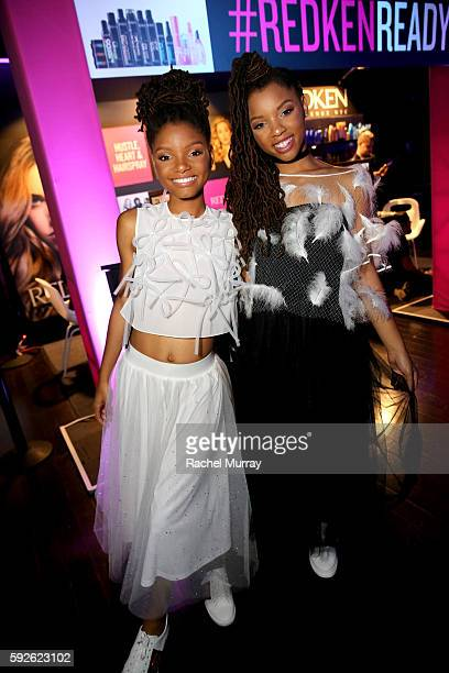 Recording artists Halle Bailey and Chloe Bailey of Chloe x Halle attend the 5th Annual NYX FACE Awards on August 20 2016 in Los Angeles California
