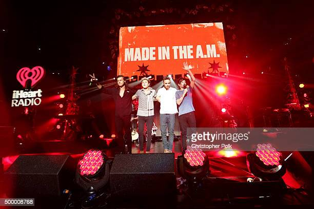 Recording artists Harry Styles Niall Horan Liam Payne and Louis Tomlinson of music group One Direction perform onstage during 1027 KIIS FM's Jingle...