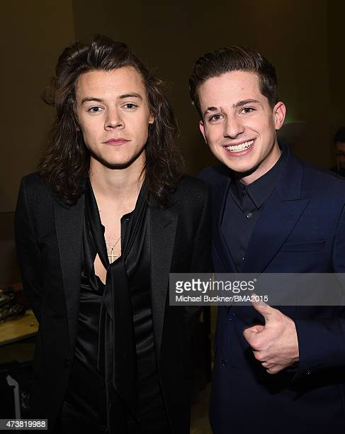 Recording artists Harry Styles of One Direction and Charlie Puth attend the 2015 Billboard Music Awards at MGM Grand Garden Arena on May 17 2015 in...