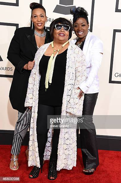 Recording artists Helen Bruner Sarah Dash and Terry Jones attend The 57th Annual GRAMMY Awards at the STAPLES Center on February 8 2015 in Los...