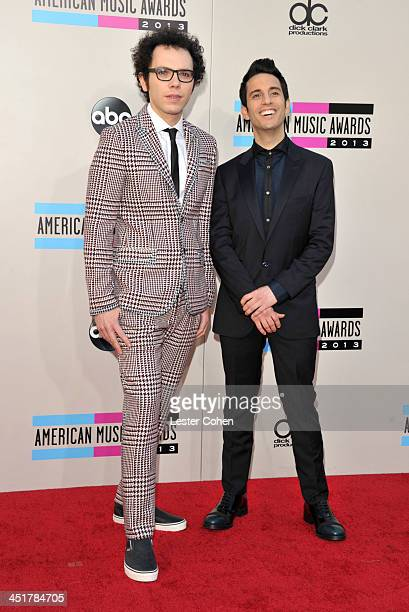 Recording artists Ian Axel and Chad Vaccarino of music group A Great Big World attend the 2013 American Music Awards at Nokia Theatre LA Live on...