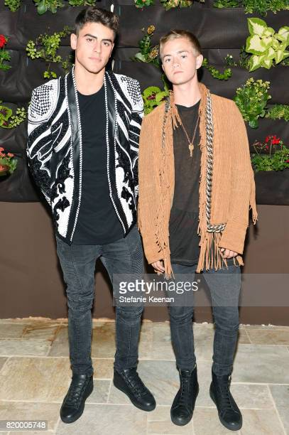 Recording Artists Jack Gilinsky and Jack Johnson at BALMAIN celebrates first Los Angeles boutique opening and Beats by Dre collaboration on July 20...