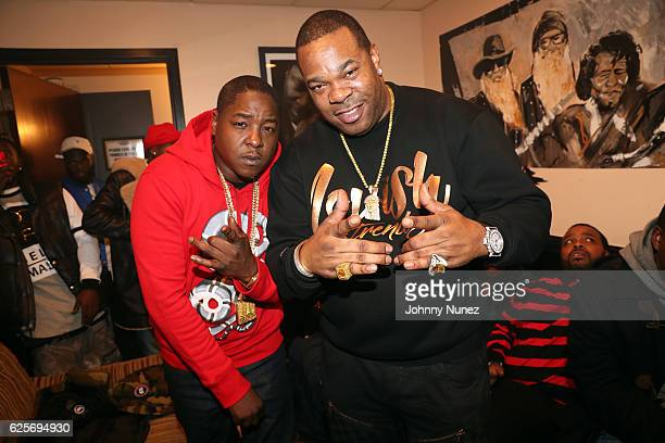 Recording artists Jadakiss and Busta Rhymes backstage at BB King Blues Club Grill on November 24 2016 in New York City