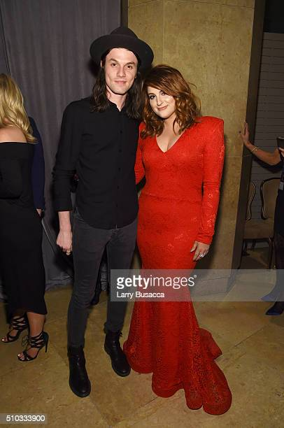 Recording artists James Bay and Meghan Trainor attend the 2016 PreGRAMMY Gala and Salute to Industry Icons honoring Irving Azoff at The Beverly...
