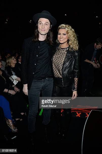 Recording artists James Bay and Tori Kelly attend The 58th GRAMMY Awards at Staples Center on February 15 2016 in Los Angeles California