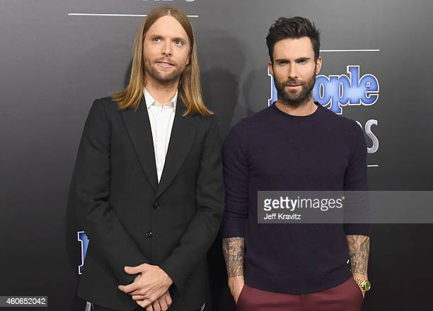 Recording artists James Valentine and Adam Levine of music group Maroon 5 attend the PEOPLE Magazine Awards at The Beverly Hilton Hotel on December...