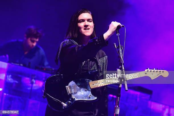 Recording artists Jamie xx and Romy Madley Croft of The xx perform onstage at What Stage during Day 2 of the 2017 Bonnaroo Arts And Music Festival on...