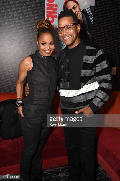 Recording artists Janet Jackson and Maxwell attend Janet Jackson Barclays After Party at Barclays Center on November 15 2017 in New York City