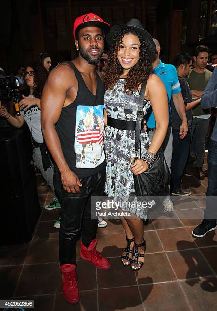Recording Artists Jason Derulo and Jordin Sparks attend Lianne La Havas performance at Summer Sessions at Warner Bros Records Boutique Store on July...