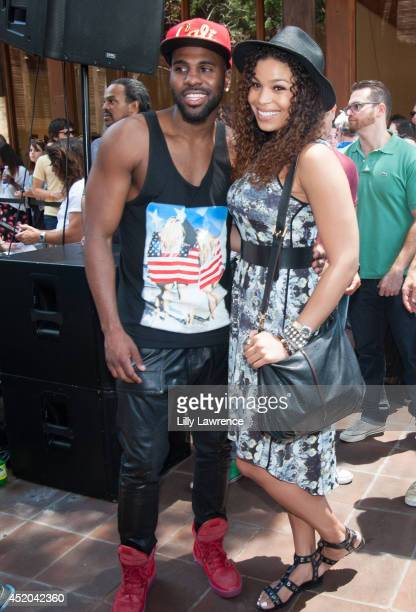 Recording artists Jason Derulo and Jordin Sparks pose for a picture at Warner Bros Records Summer Sessions With Lianne La Havas at Warner Bros...