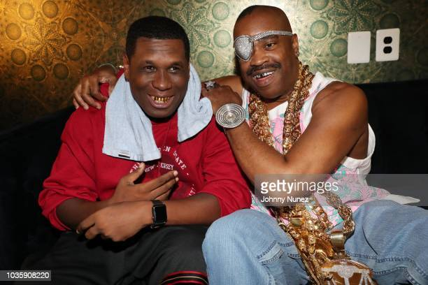 Recording artists Jay Electronica and Slick Rick backstage at The Good Way at Sony Hall on September 18 2018 in New York City