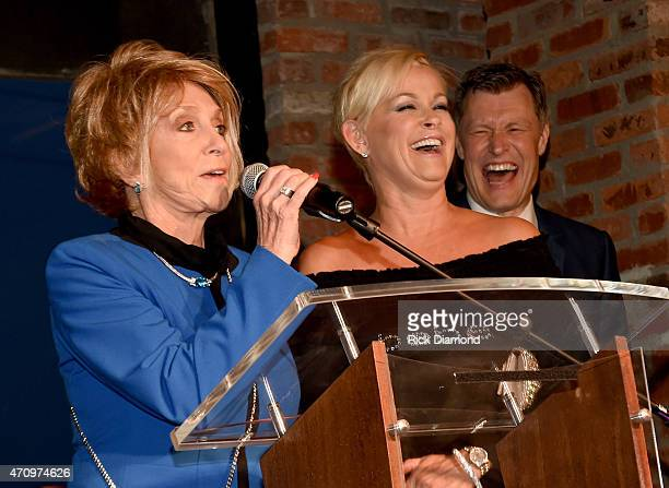 Recording Artists Jeannie Seely and Lorrie Morgan attend Recording Artist and Legend George Jones Museum Grand Opening on April 23 2015 in Nashville...