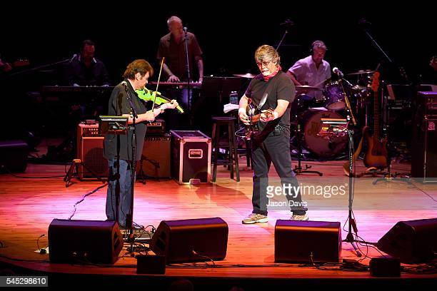 Recording Artists Jeff Cook and Randy Owen of Alabama perform onstage during The Big Gig Alabama Concert at CMA Theater at the Country Music Hall of...